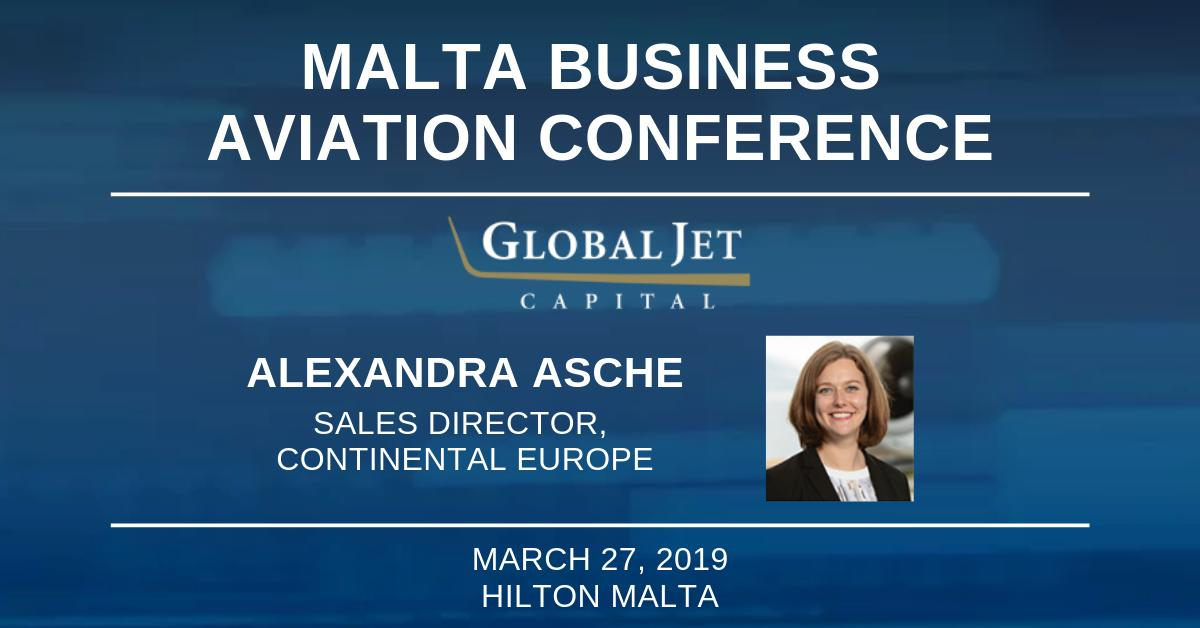 Stop by and meet with Global Jet Capital's Alexandra Asche at the Malta Business Aviation Conference tomorrow at @hiltonmalta. She will be sharing her expertise among dozens of other thought-leaders in the business aviation industry. #bizav #aviation #mbac
