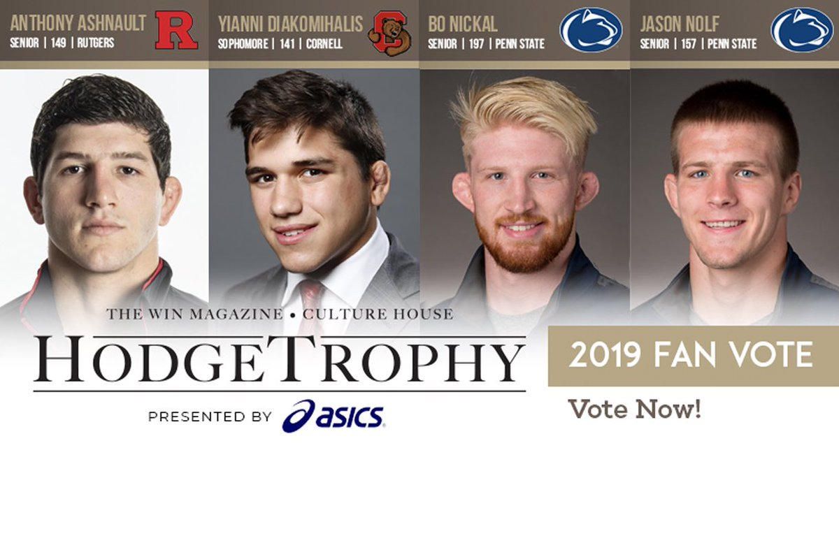.@AnthonyAshnault is one of four finalist for this year's Hodge 🏆.  Fans can vote for our 2019 NCAA Champion here: http://bit.ly/2Fvth06   #RelentlessPursuit | #AshForHodge