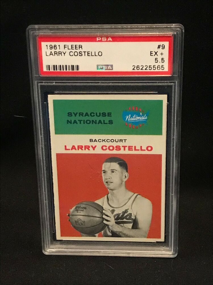1961 Fleer #9 - LARRY COSTELLO - PSA 5.5 EX+ Syracuse NATIONALS / Basketball: $48.61 End Date: Tuesday Mar-26-2019 15:14:20 PDT Buy It Now for only: $48.61 Buy It Now | Add to watch list https://t.co/heUTb4miMv https://t.co/fbOGezbU64