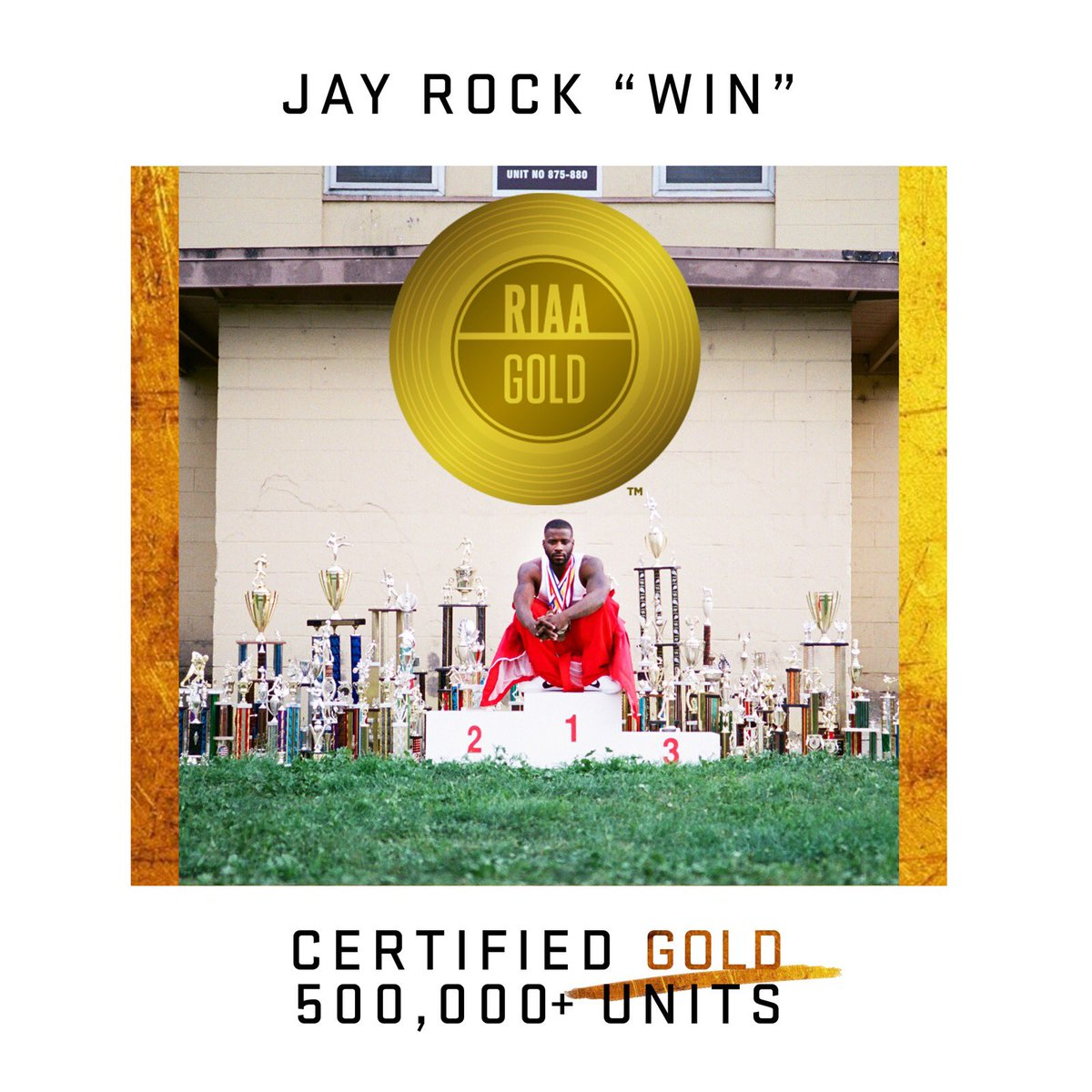 """God is Good 🙏🏾 """"Win"""" Is Certified Gold 🏆 Thanks To All Of My Supporters!! #TDE #Redemption"""