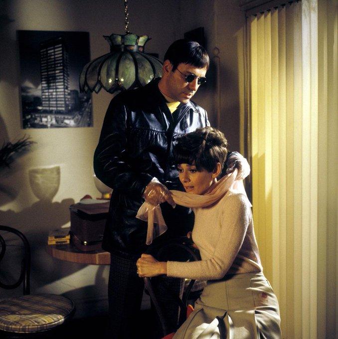 Happy Birthday Alan Arkin! Alan Arkin and Audrey Hepburn photographed for Wait Until Dark, 1967.
