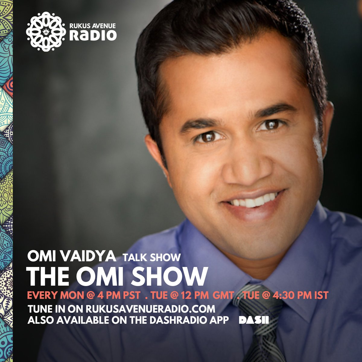 Couldn't be more excited to announce my new radio show #TheOmiShow premiering April 8th on the world's first mainstream South Asian radio station @RukusAvenueRadio available to over 10 million monthly listeners on @DASH_Radio launched by mini music mogul @SammyChand. https://t.co/BYk2HWG7ez