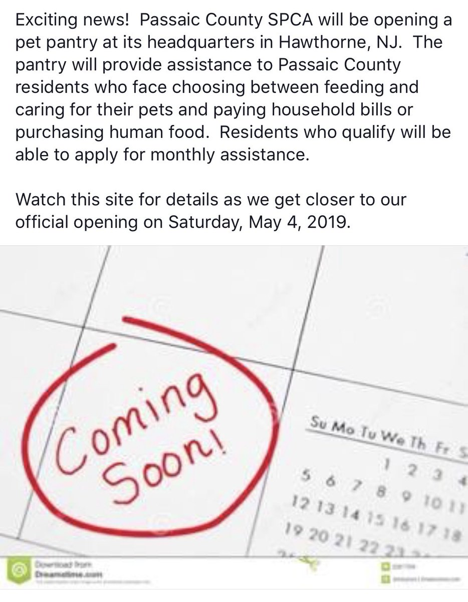 Exciting news for the #pcspca we are opening a pet pantry! May 4th is our first day!