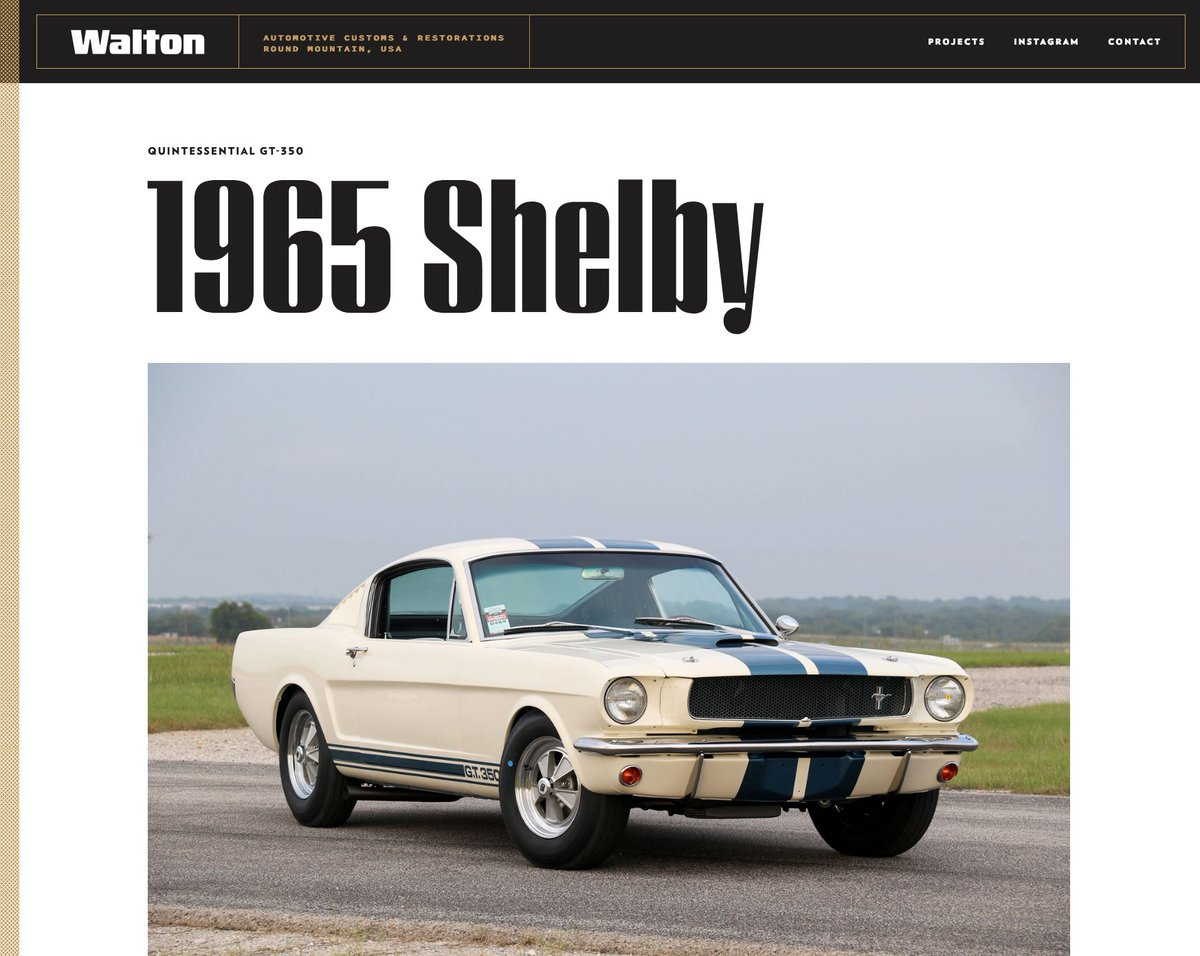 Made a few quick updates & added the next project to the Walton Customs site: waltoncustoms.com/projects/1965m…