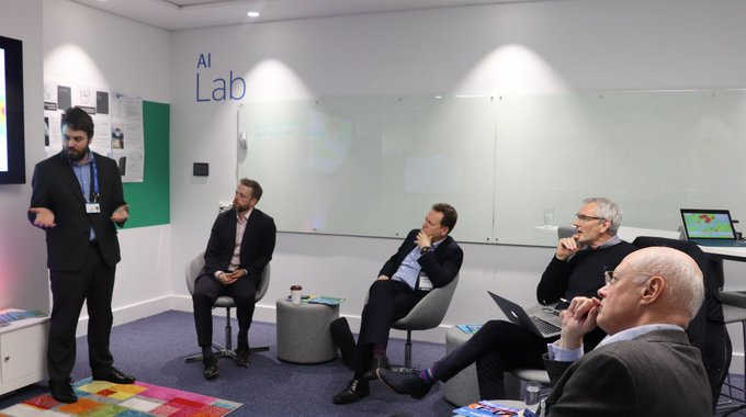 An insightful session with @WelshGovernment Digital Innovation Review team in our Atos AI Lab,...