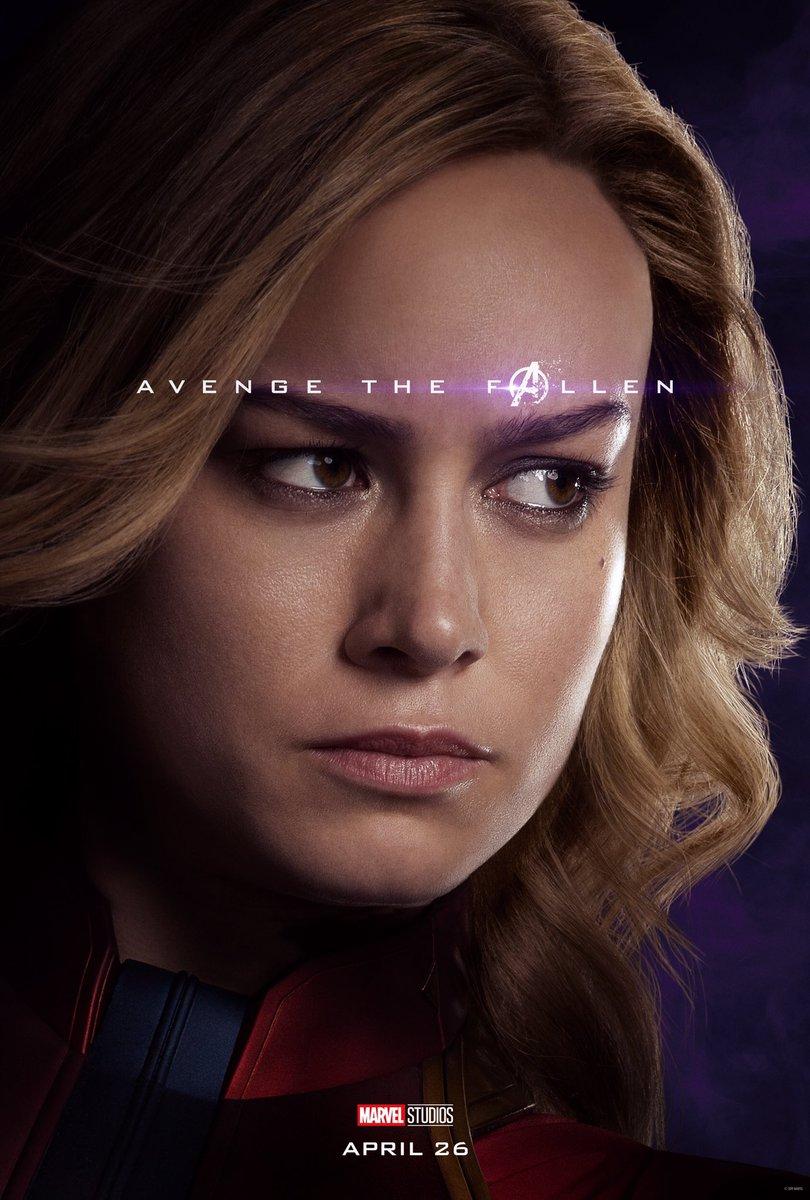 RT @LightsCameraPod: New Captain Marvel poster for 'Avengers: Endgame' https://t.co/wKAJ9QjP83