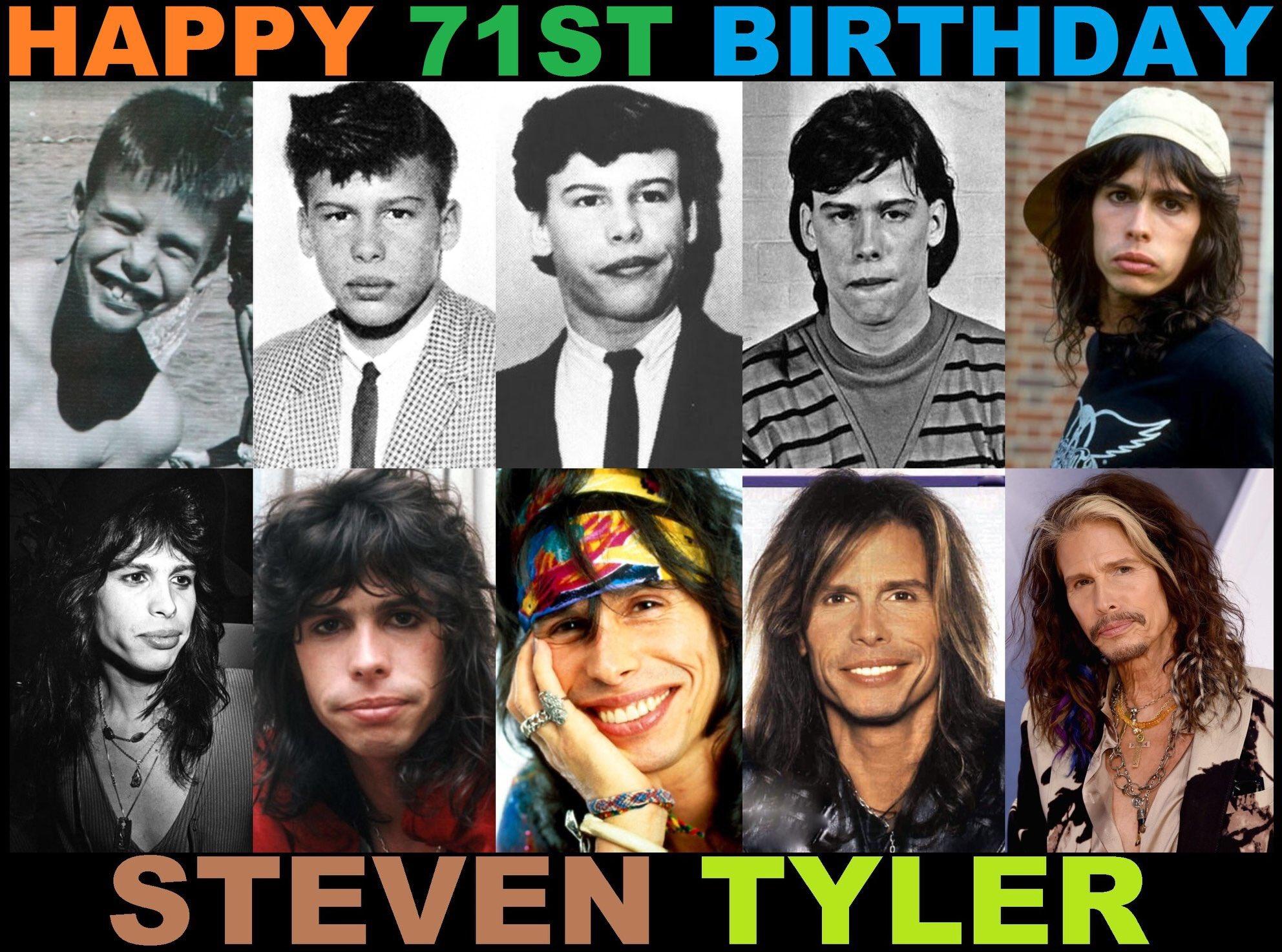 Happy 71st birthday, Steven Tyler Of Aerosmith!