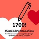 """Image for the Tweet beginning: Trapani, continua la campagna """"Giacomometticiunafirma""""."""