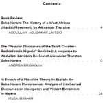 Debating Boko Haram - three articles, including a review of Thurston's book, 'Boko Haram: The History of an African Jihadist Movement' (2018) - Centre for Contemporary Islam, University of Cape Town - PDF, free download from: https://t.co/0PXiI9H5kV #BokoHaram #Jihadism