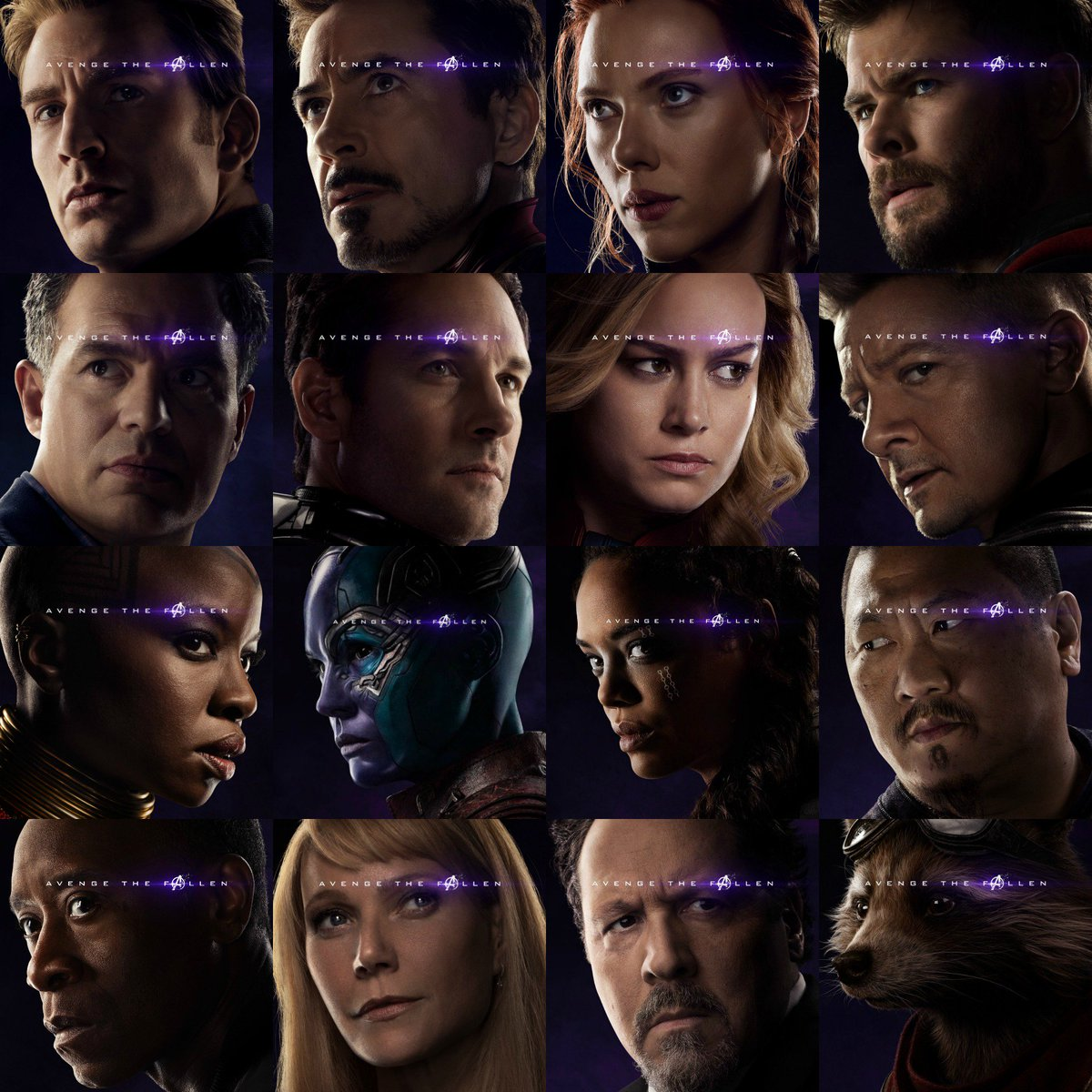 #AvengeTheFallen The Avengers (left) The Fallen (right) #AvengersEndgame 4.26.2019