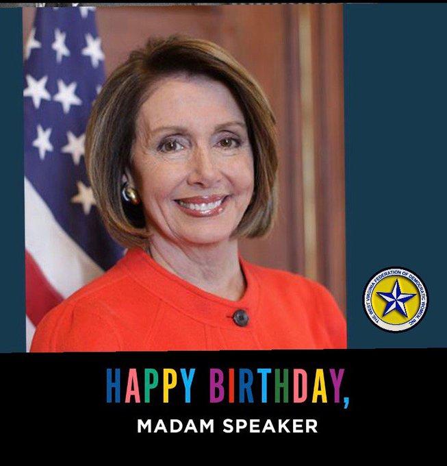 Happy Birthday, Speaker Nancy Pelosi!