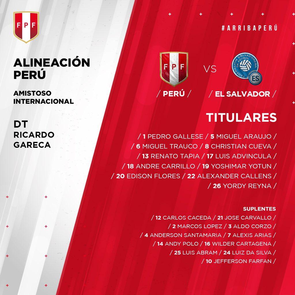 Juego amistoso contra  Peru el martes 26 de marzo del 2019. D2n0XIkWkAEJS8Y