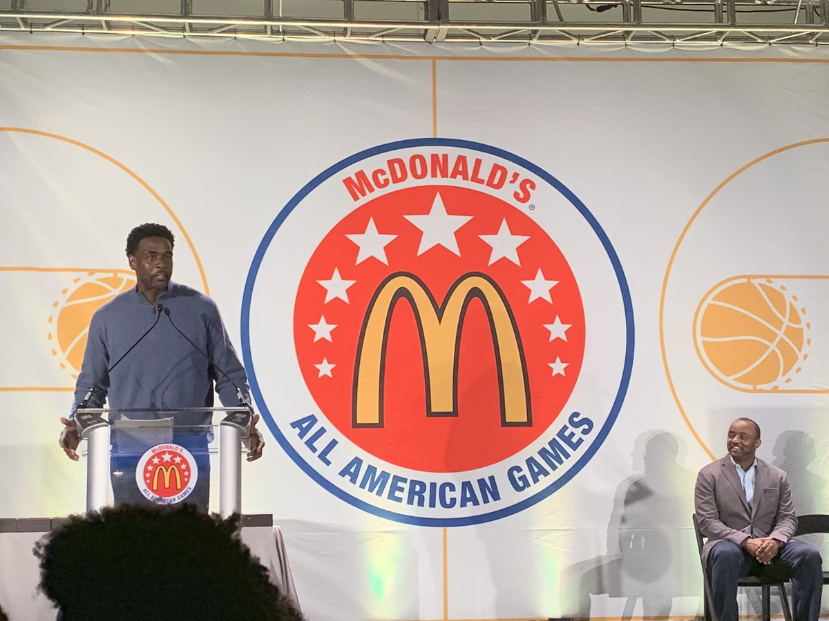 Thanks Chris Webber for your inspiring words at th #McDAAG player celebration & ring ceremony! @realchriswebber @McDAAG