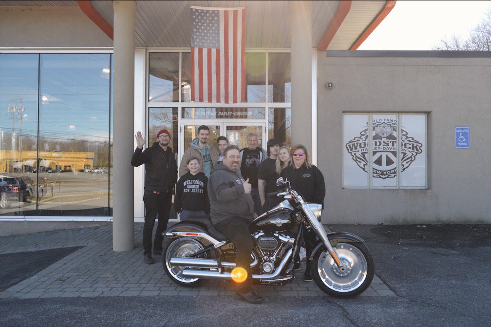 Congrats Michael On Your New 2018 Fat Boy S Welcome To Woodstock Harley Family Stop By Or Call 845 338 2800 For All Needs