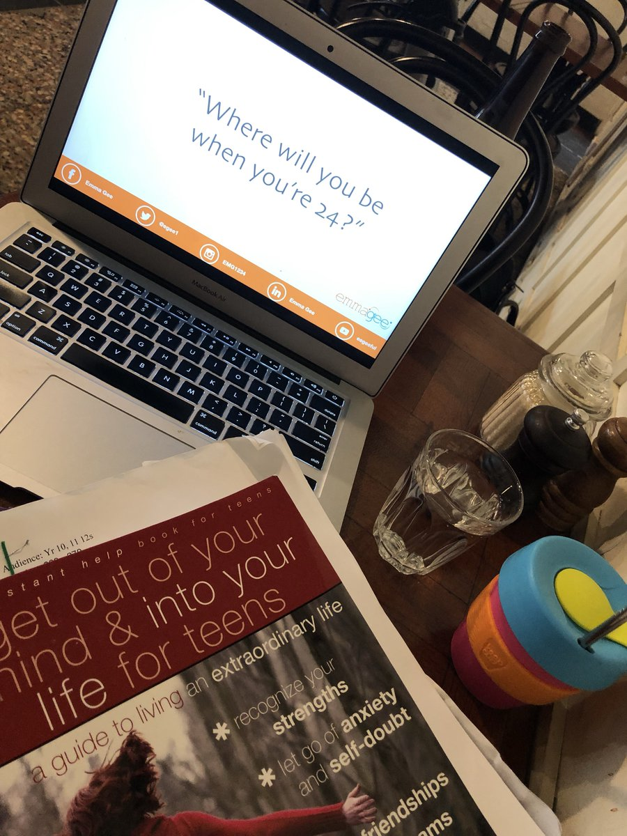 Preparation and a strong coffee ☕️ for this mornings keynote to yr 12 students @genazzano #school #speaker #wellbeing #resilience #health #stroke #recovery #rehabilitation #neuro #inspire #motivate #coffee #book #inclusion #business Genazzano FCJ College #empowerment #emmagee