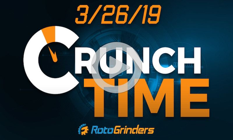 Come hang out w/ the three musketeers of @KevinRothWX, @ameansy & @JSurab as they provide their analysis & final thoughts for tonight's slate on NBA Crunch Time at 6:30 PM ET. #FantasyBasketball #DFS   Join them here: https://buff.ly/2TEbSaO