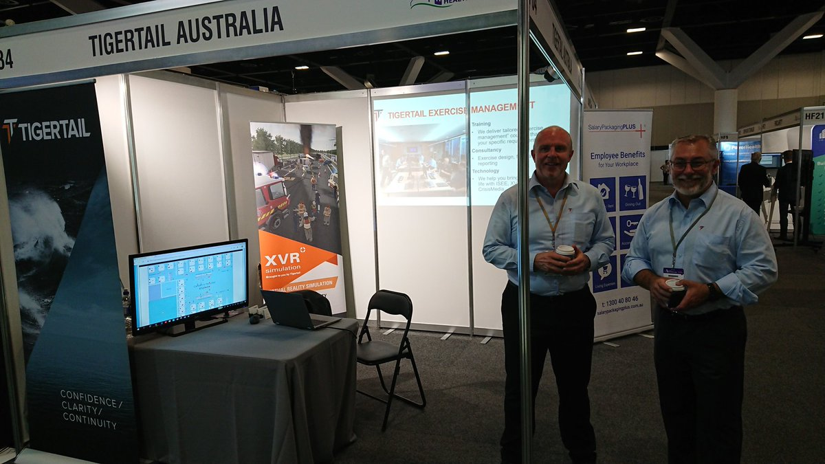 Set up and ready for Australian Healthcare Week  at Sydney ICC #resilience #healthcare