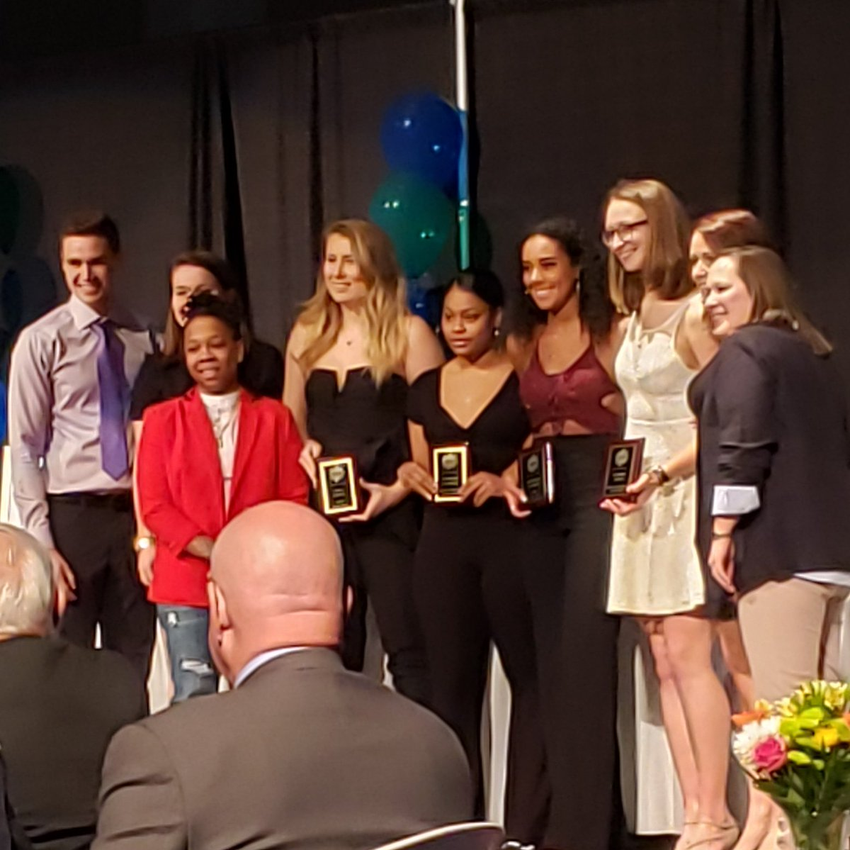 Big shout out to our womens basketball award winners. Devanee Dewey Lakers Pride, Angeline Campbell rookie of the year and Co MVP's Jamie Soffer and Michaela Branker. #golakers #ourway