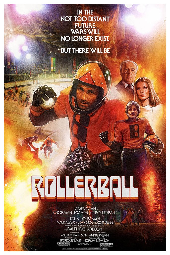 Happy 79th birthday to James Caan! Rollerball (1975) by Paul Shipper