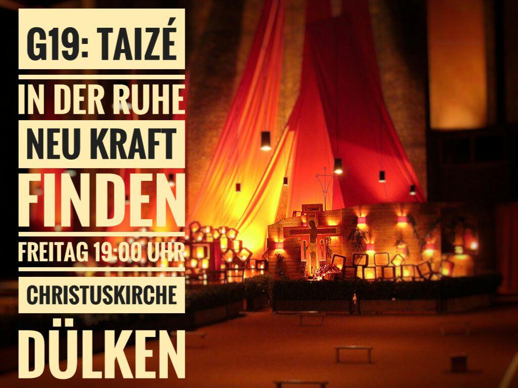 Am Freitag, 19:00 Uhr, feiern wir unseren Taizé-Gottesdienst in der neugestalteten Christuskirche #ekduelken