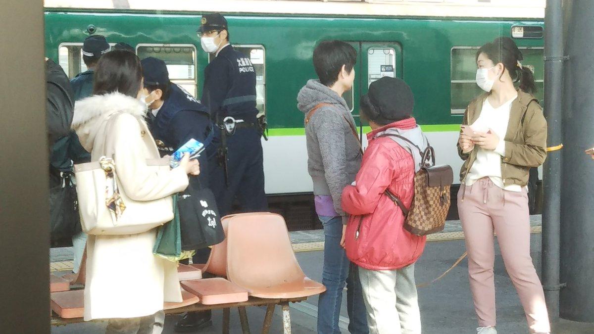 守口市駅で人身事故の現場画像