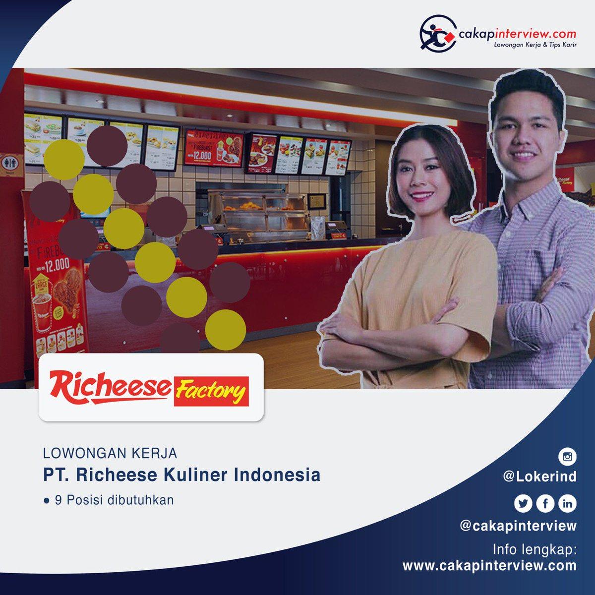 Lowonganswasta Pt Richeese Kuliner Indonesia 9 Posisi