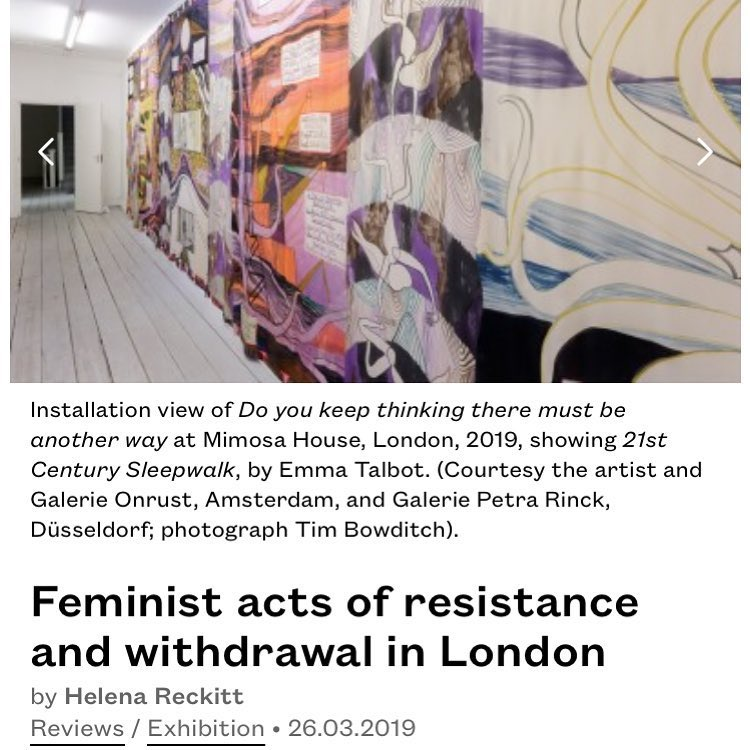 Helena Reckits review of the current Mimosa House exhibition, 'Do you keep thinking there must be another way' is up at Burlington online