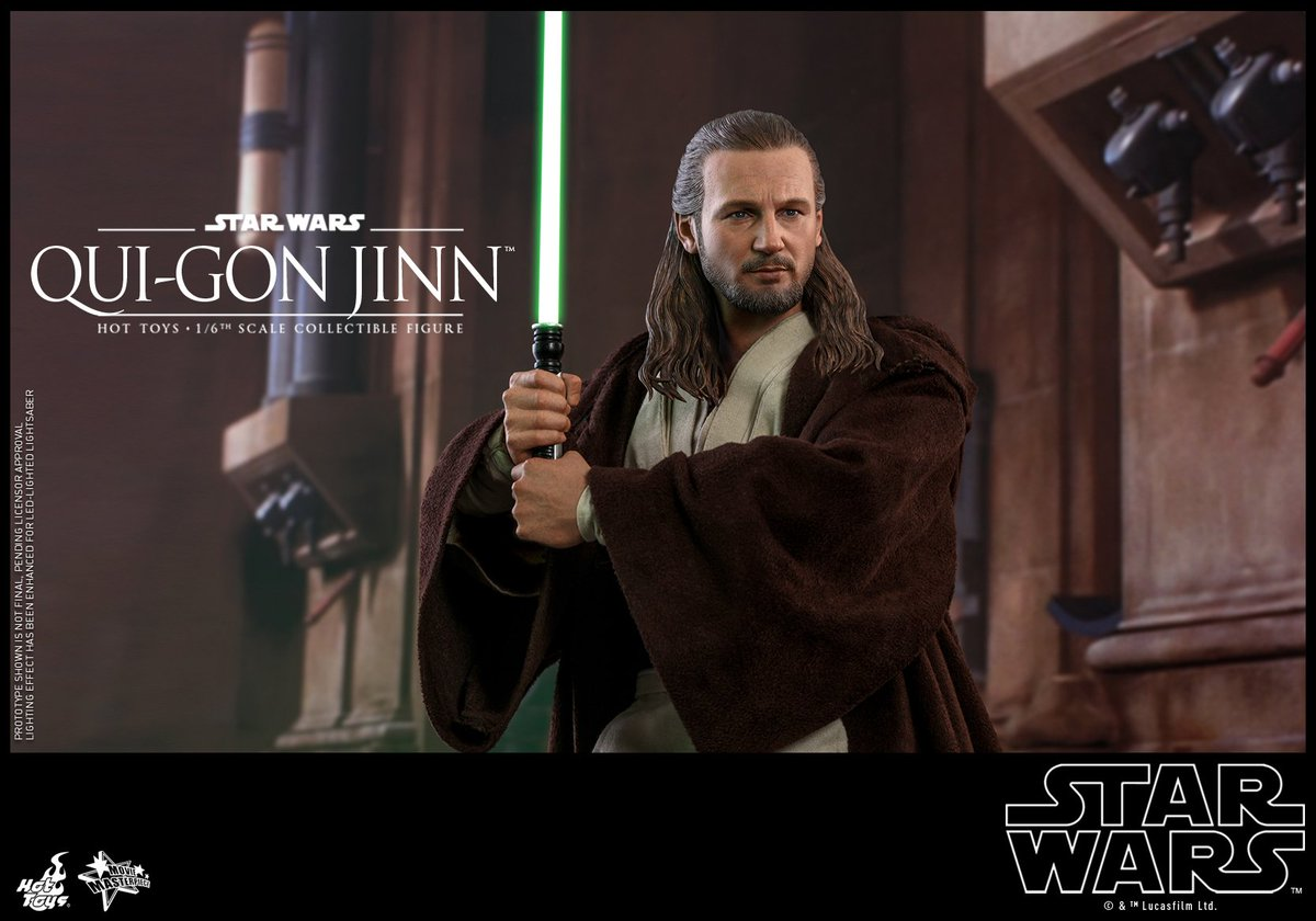 #HotToys 1/6th scale #QuiGonJinn collectible figures from #StarWars Episode1: #ThePhantomMenace is available for pre-order now! bit.ly/2TysbWJ