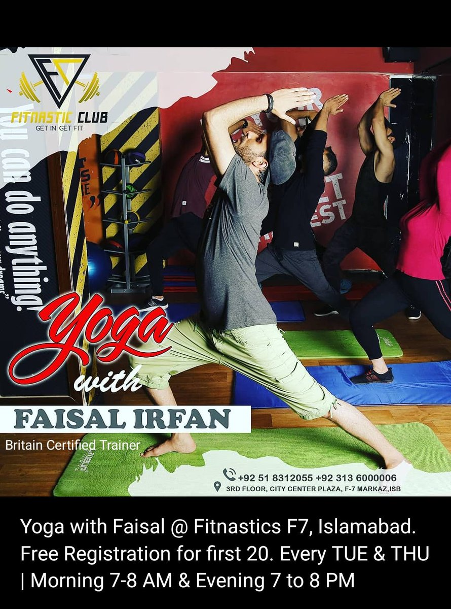 Starting next week. Hurry up, grab your slot.  #YogawithFaisal #FaisalIrfanProductions #fitnastic #yoga #islamabad #rawalpindipic.twitter.com/GJUst0JNHr