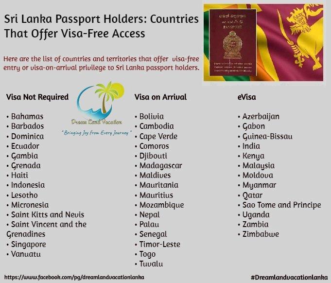 visa free countries for sri lanka 2019