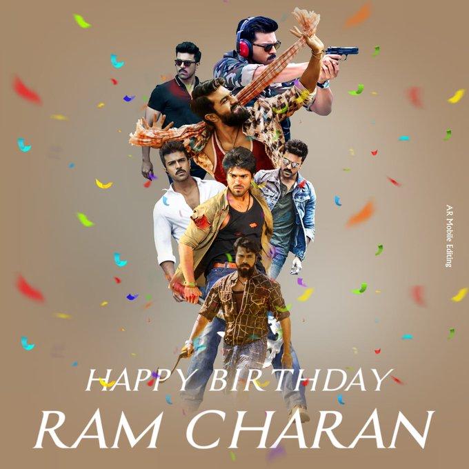 Happy birthday ram Charan bhayaa......