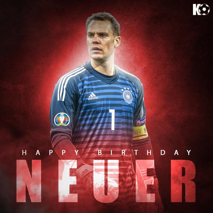 The Bayern Munich goalkeeper turns 33 today! Join in wishing Manuel Neuer a Happy Birthday