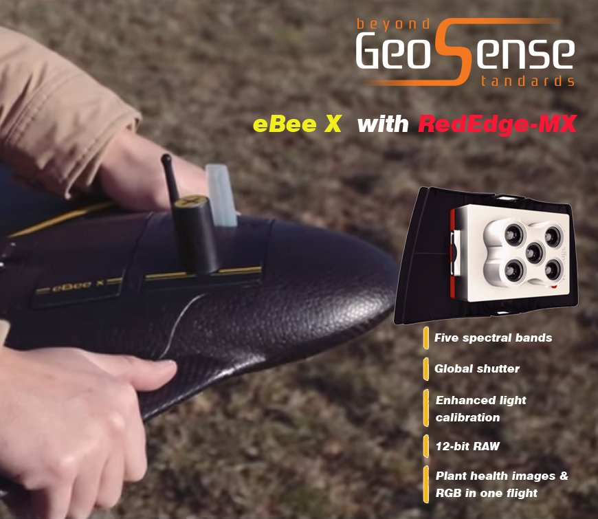GEOSENSE_GR Bee X With MicaSense RedEdge-MX, a Seamless Dual