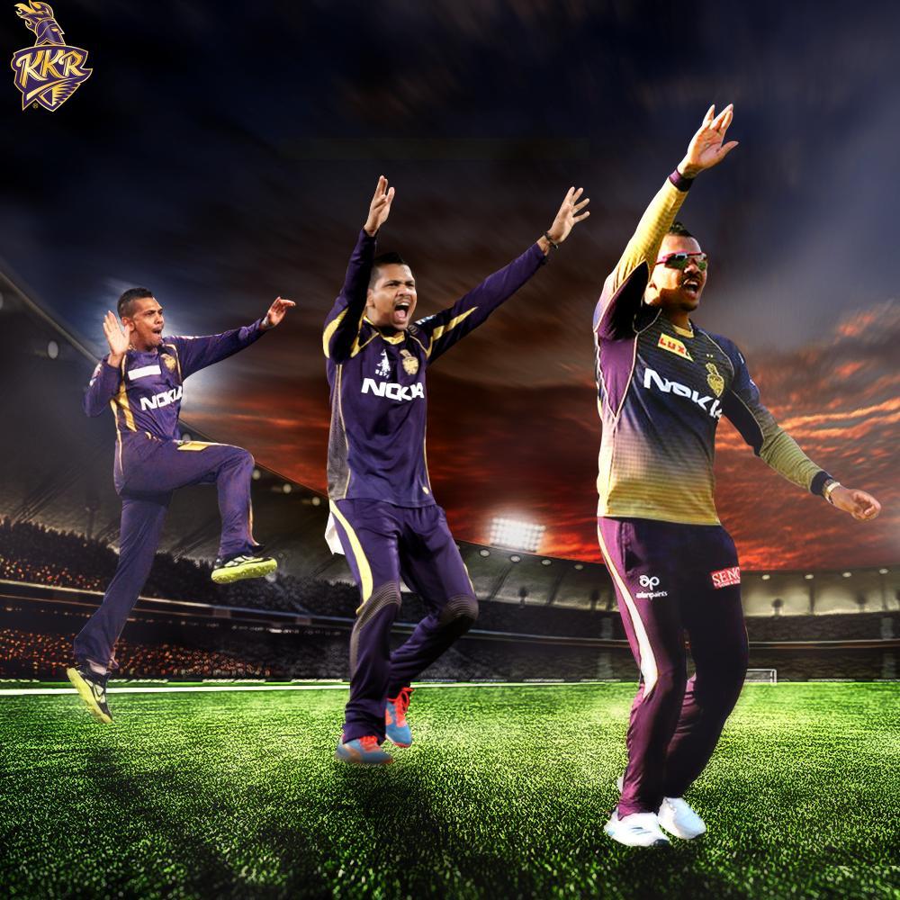 X 100      runs  wickets  games for #KKR in #IPL   Kudos! @SunilPNarine74  #KKRHaiTaiyaar #SunilNarine #KKRvKXIP<br>http://pic.twitter.com/DhG5kfIqMF