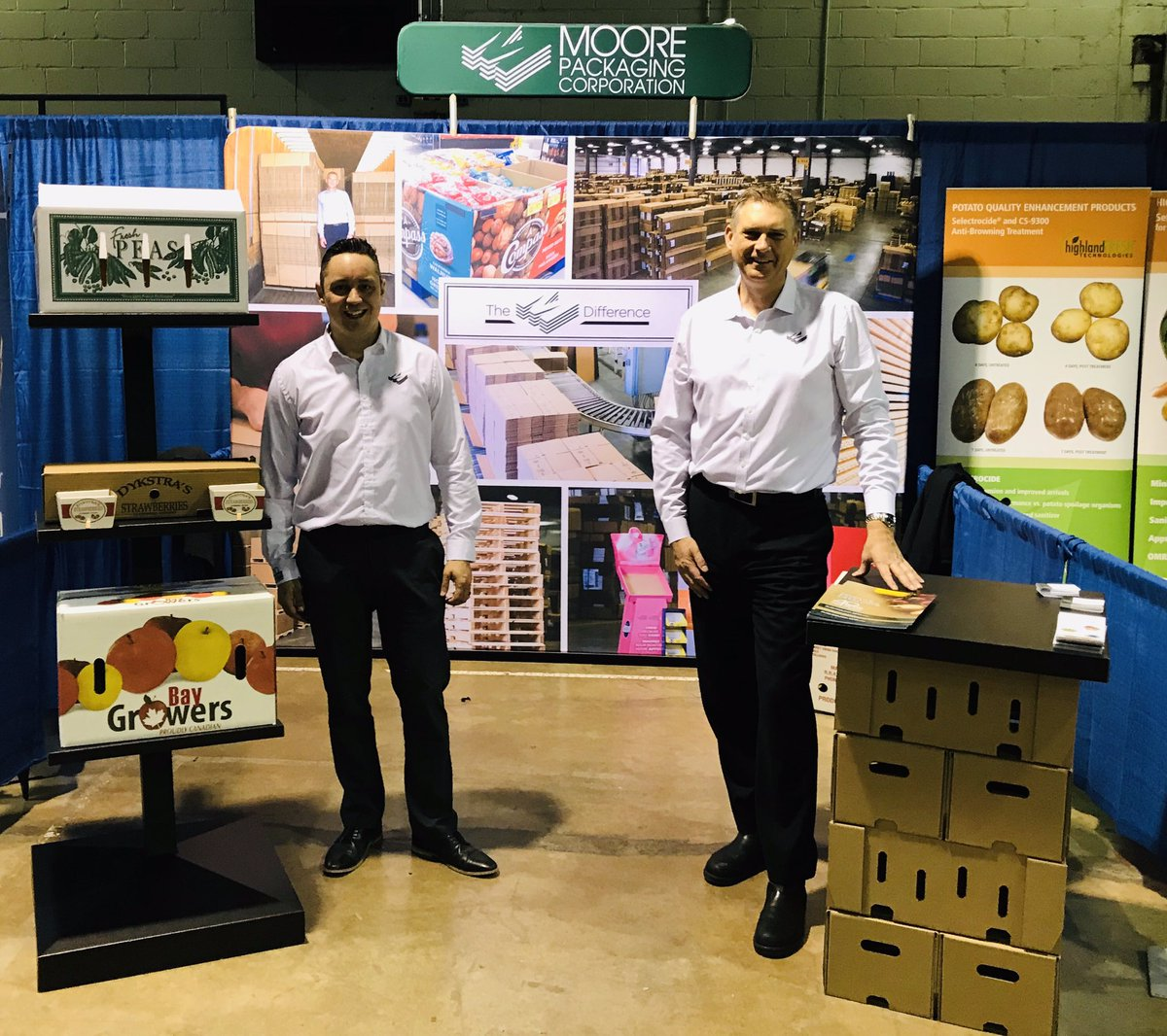 Drop by our both at the 2019 Muck Vegetable Grower Conference! #vegetables #corrugated #boxes #waxedboxes #moorepackaging