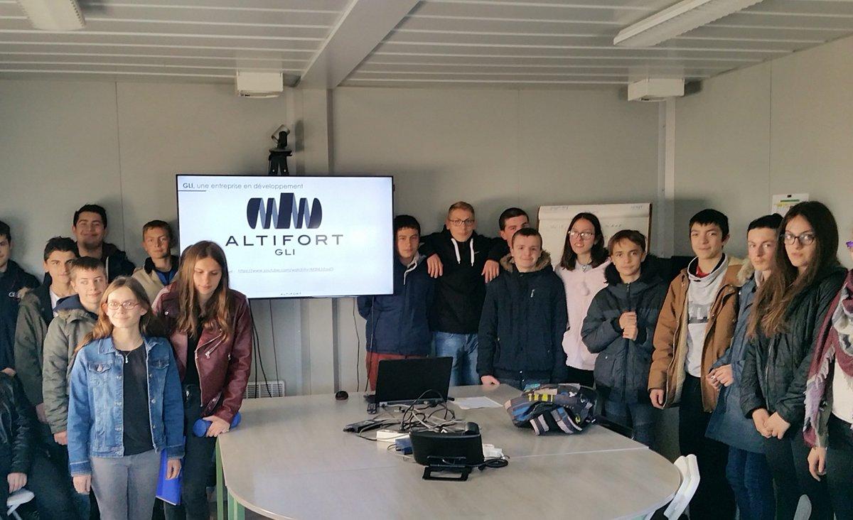 🏭Visite des classes de #Segpa du collège Camille Claudel de Civray chez @Altifort -GLI pour une présentation de nos métiers et une découverte de l'#Industrie…