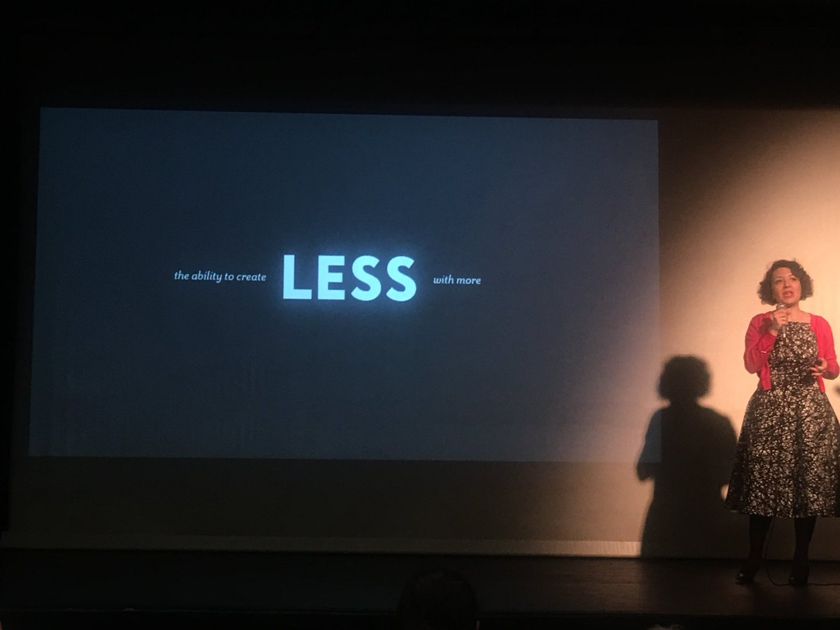 """""""Ability to create LESS with more"""" is the corner stone of a """"FaultLESS Designer"""" based on 5 basic principals: Focus, Meaning, Time, Trust, Emotion (@ChiaraAliotta) #JDayIL #Joomladay 2019 #Joomla<br>http://pic.twitter.com/t53VY56Rr0"""