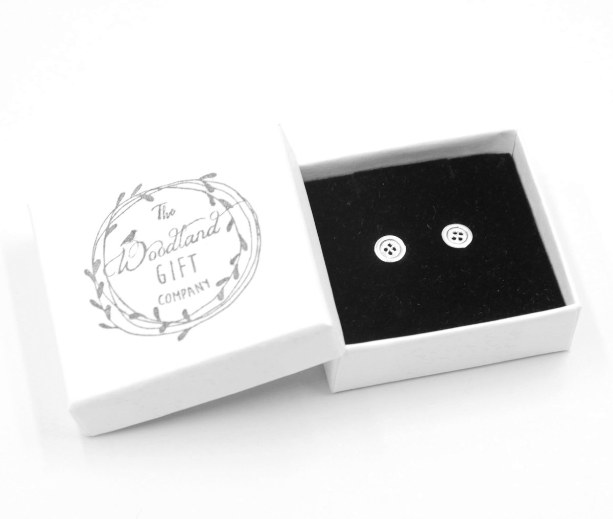 96aaad4ec Shop here:  https://www.thewoodlandgiftcompany.com/925-sterling-silver-stud-earrings …  #cuteasabutton #SewingBee #giftideas #giftsforher #UKGiftHour ...