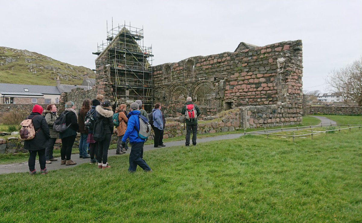 #nuntastic! At the Iona nunnery @kimmcurran with the @UofGArchaeo #Argylltrip2019