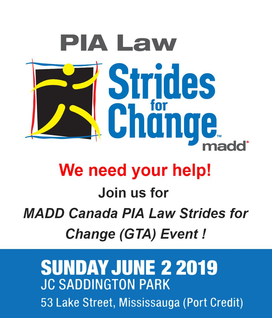 Want to make a difference?  We are seeking individuals who want to make a difference in theirlocal community. If this is you, sign up to be an event day volunteer today!  For more info please visit http://stridesforchange.ca  #SFCGTA2019 #stopimpaireddriving #makeadifference