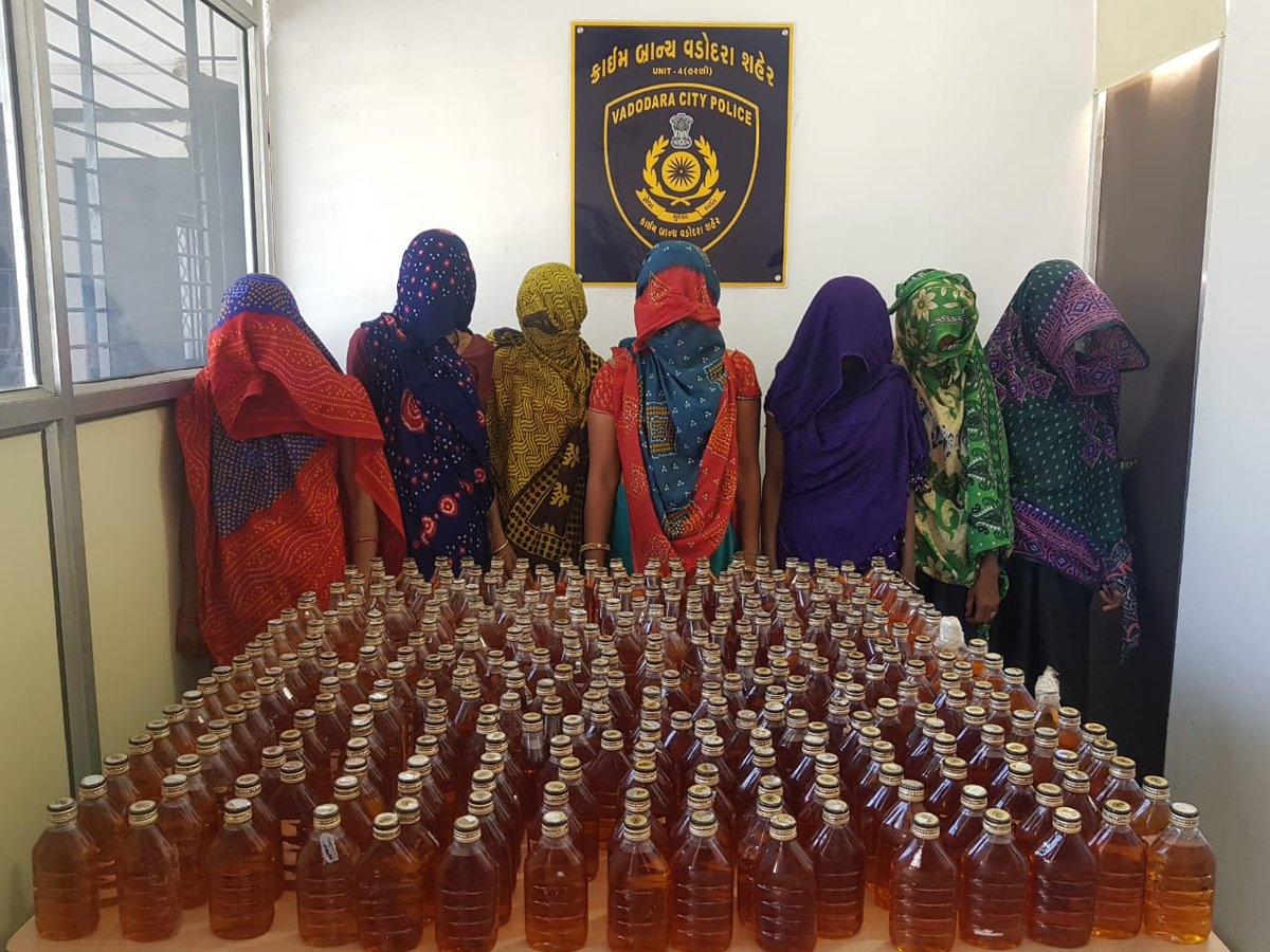 7 women who smuggled liquor by tying bottles with body nabbed in Gujarat