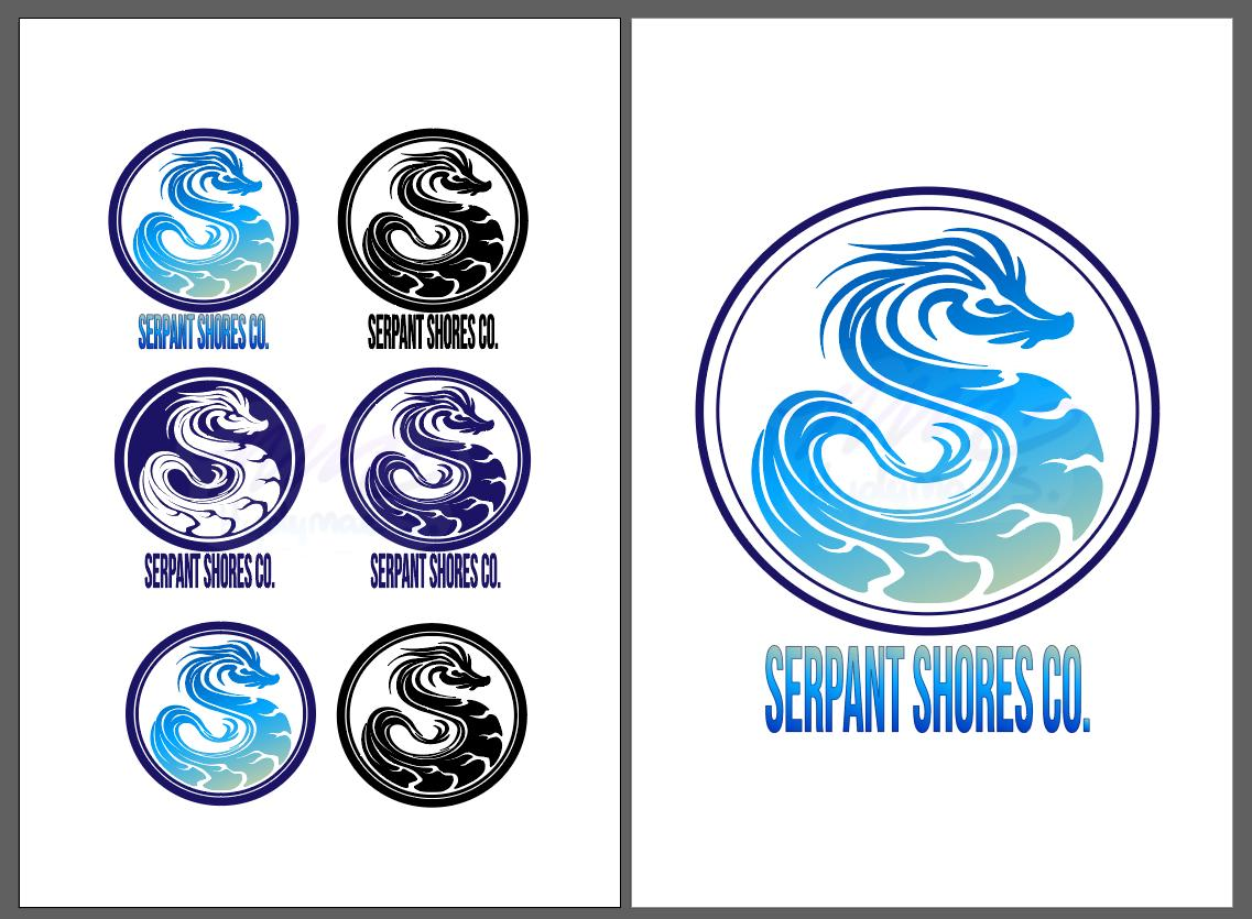 Finally tried my hand at #adobe #illustrator and made a vector #bird and some logo designs for a fictional company called the #Serpant #Shore I don't think its too bad for my first time making something like this :,D