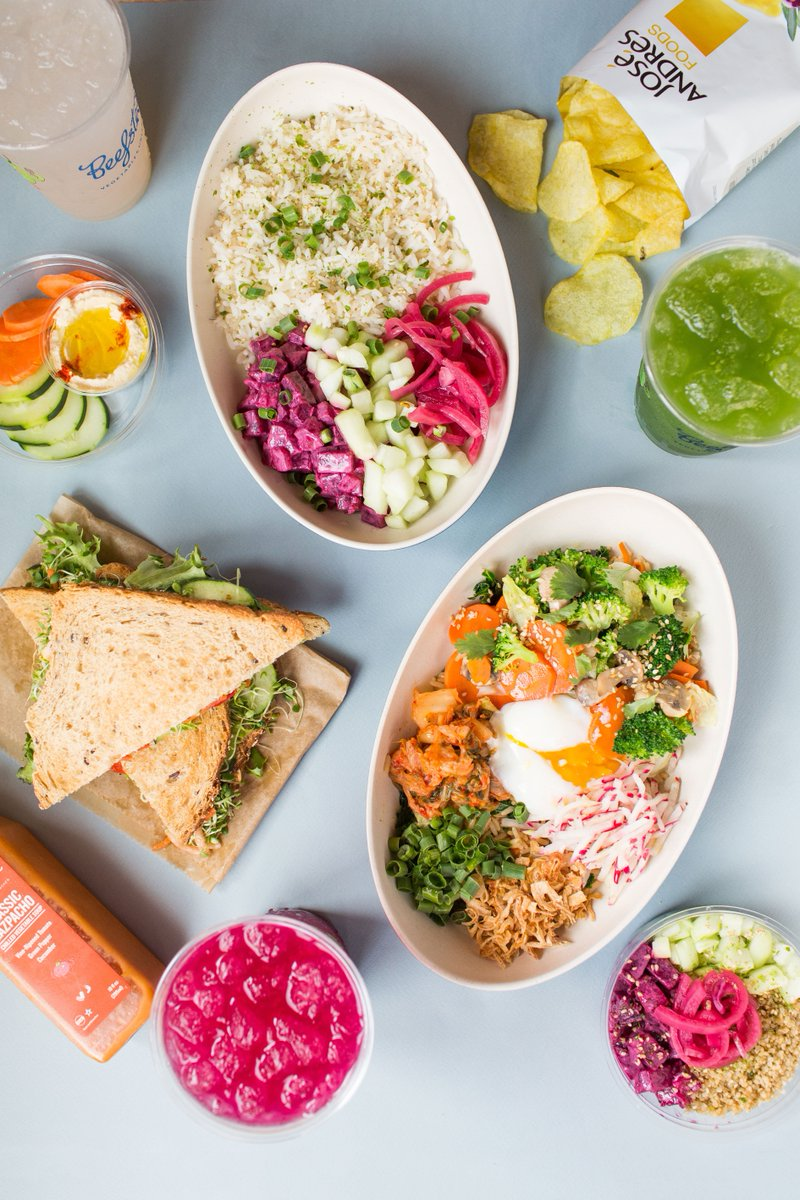 Say hello to our 2019 #Spring menu! Featuring an updated Beet Poke, The GOAT sandwich, Rice Rice Baby bowl, and all new Grab + Go Bites for an on-the go nutritious (but mostly delicious) snack 🌱 🌸 🎉