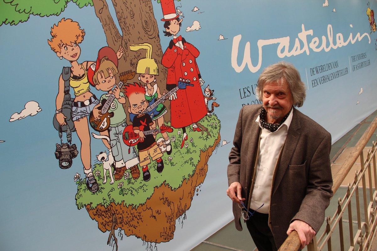 """Marc Wasterlain fut l'un des premiers à visiter la nouvelle grande exposition que nous lui avons consacré. """"Wasterlain, les univers d'un raconteur d'histoires"""" est à découvrir jusqu'au 15 septembre.   (📸: Daniel Fouss/CBBD)  Plus d'infos sur https://www.cbbd.be/fr/expositions/les-grandes-expositions-temporaires…"""
