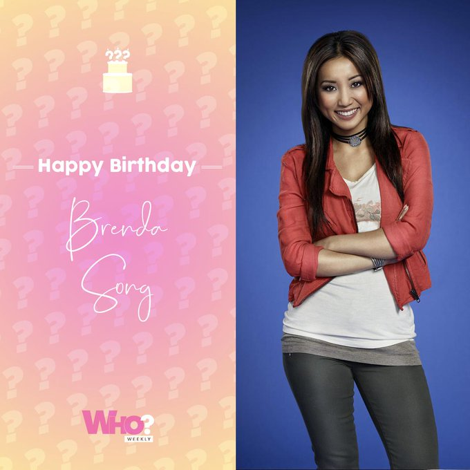 Happy birthday, Brenda Song!