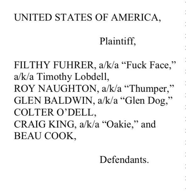 U.S. v. Fuck Face, et al.