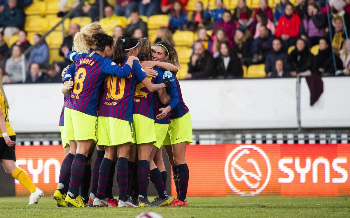 c8cea5f77e865 El Barcelona Femenino superó sin apuros el trámite en Noruega ante el LSK  Kvinner (0-1) y selló con dos victorias (3-0 en la ida) su pase a las  semifinales ...