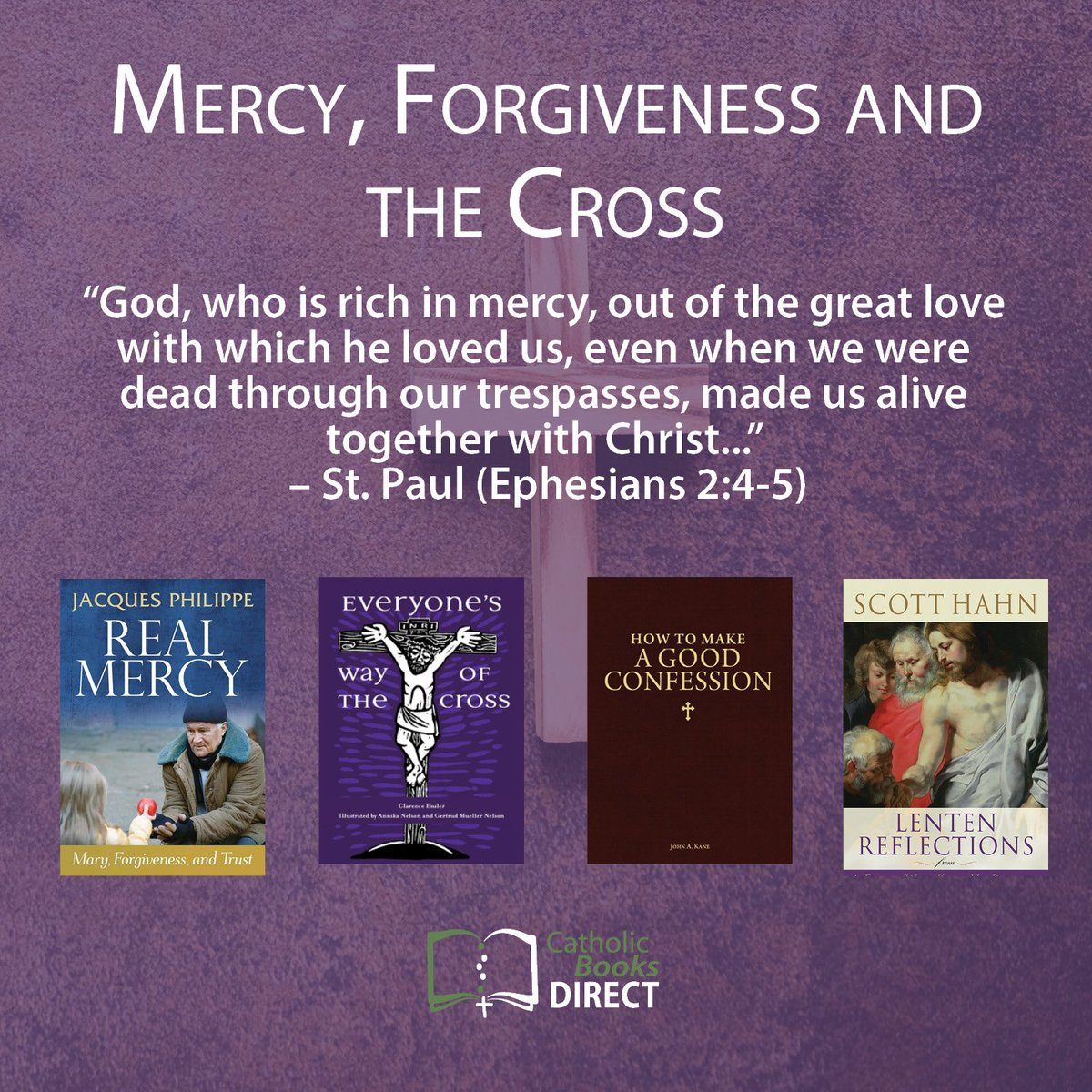 Check out our selection of books on forgiveness, mercy and the Cross as we journey closer to Good Friday. #Lent #Catholic- https://mailchi.mp/38c795a271a8/lent-challenge-854093…