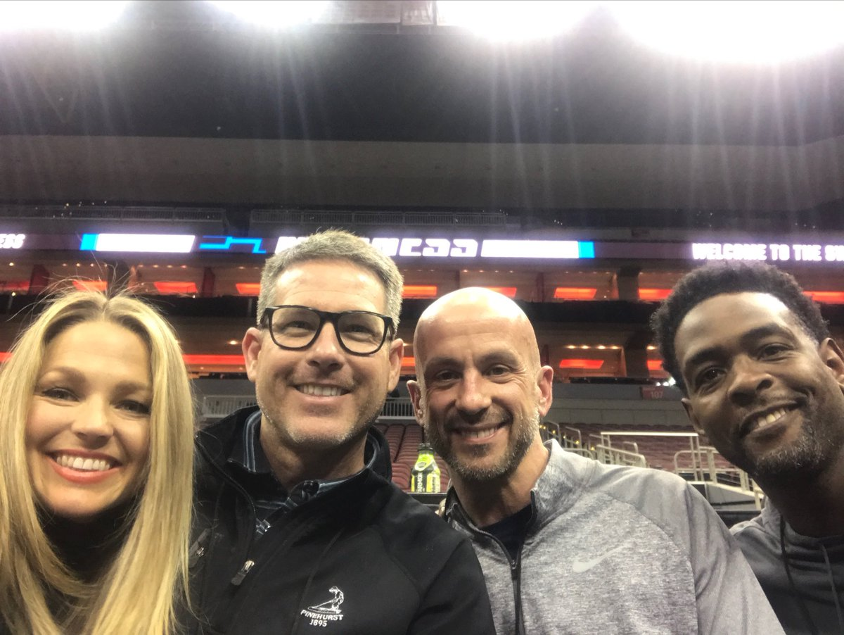Great to work with & visit with @realchriswebber @BAndersonPxP @ALaForce this week in Louisville! #MarchMadness