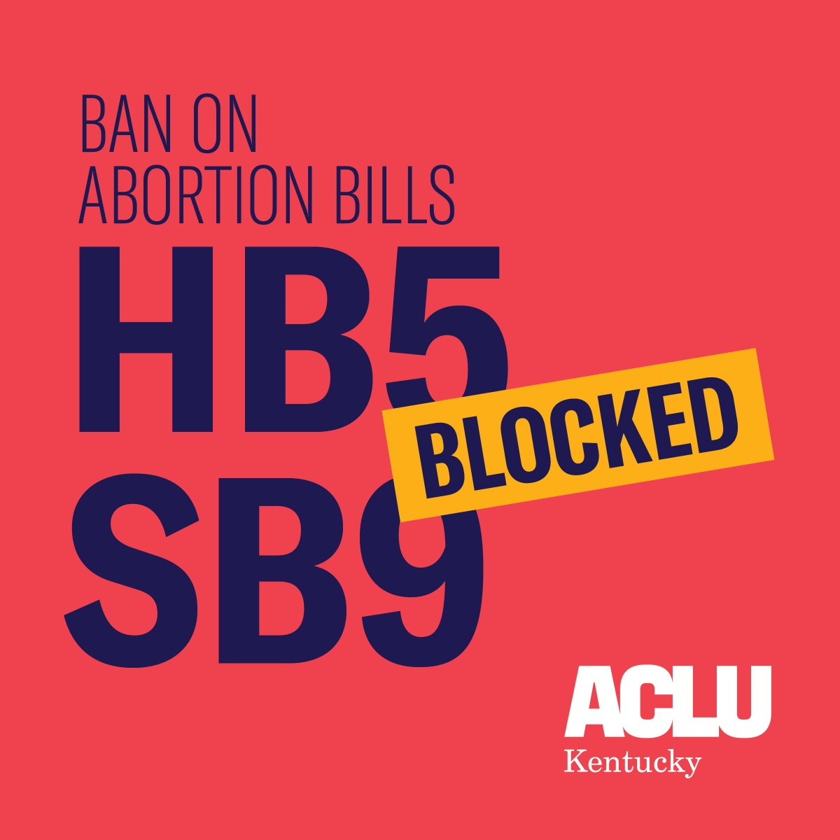 Update & VICTORY: The Temporary Restraining Order blocking enforcement of Reason Abortion Ban House Bill 5 and 6-week Abortion Ban Senate Bill 9 has been extended until the final ruling in the district court. #HB5 #SB9 #kyga19 #stopthebans